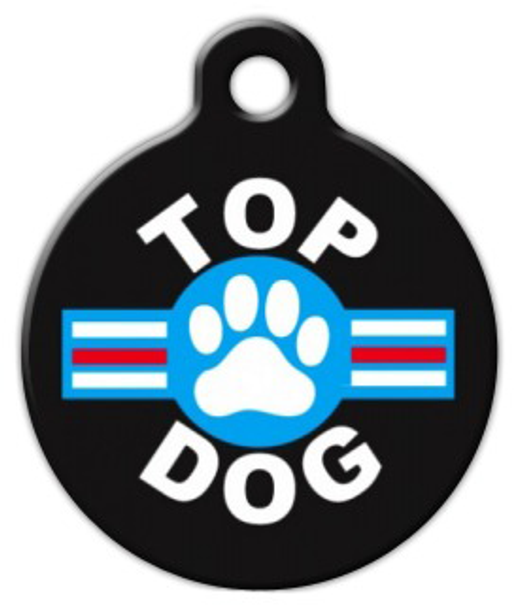 Dog Tag Art Top Dog Pet ID Dog Tag