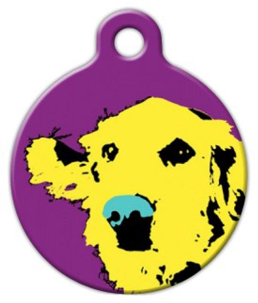 Dog Tag Art Pop Art Retriever Pet ID Dog Tag