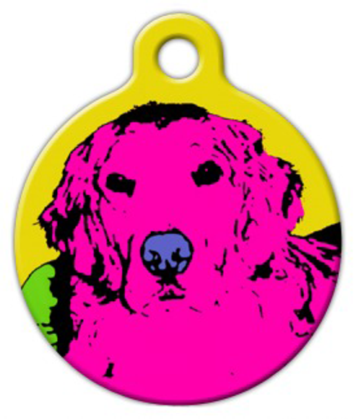 Dog Tag Art Retriever Retro Pet ID Dog Tag