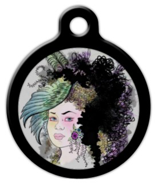 Dog Tag Art Lady Allison Pet ID Dog Tag