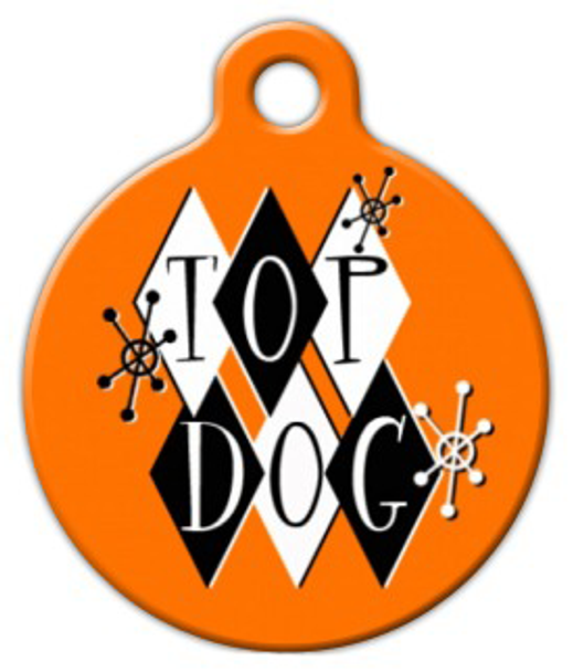 Dog Tag Art Retro Top Dog Pet ID Dog Tag
