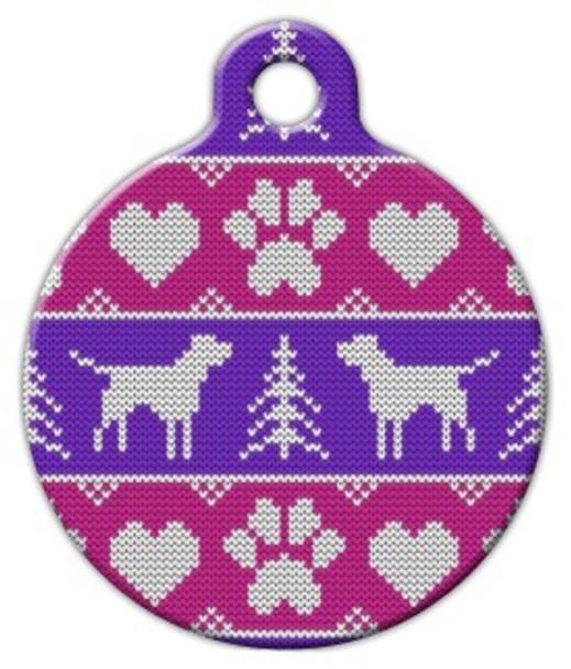 Dog Tag Art Tacky Ladies Sweater Pet ID Dog Tag