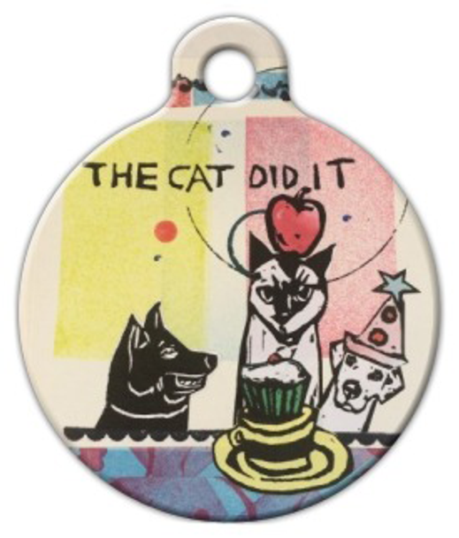 Dog Tag Art The Cat Did It! Pet ID Dog Tag