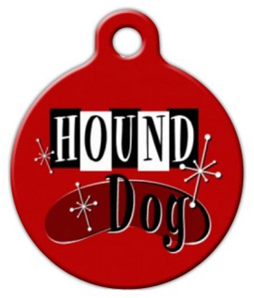 Dog Tag Art Retro Hound Pet ID Dog Tag