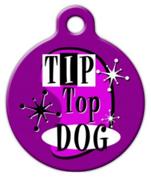 Dog Tag Art Retro Tip Top Dog Pet ID Dog Tag