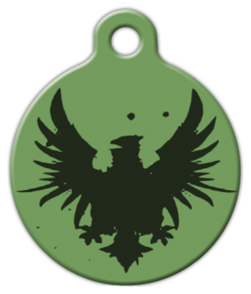 Dog Tag Art Rock Eagle Green Pet ID Dog Tag