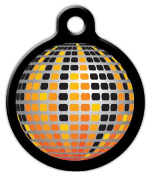 Dog Tag Art Disco Ball Pet ID Dog Tag