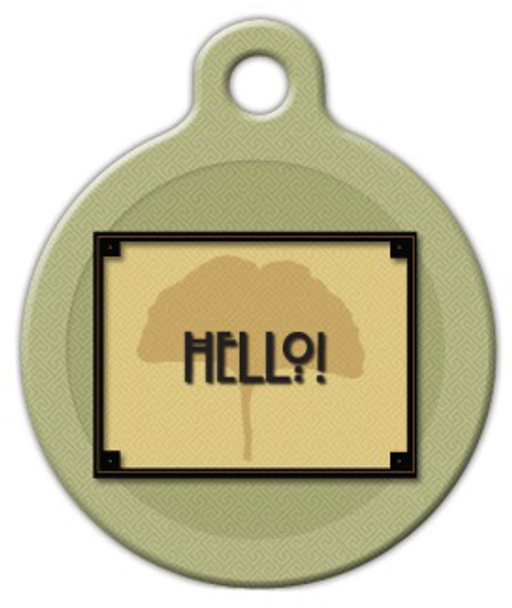 Dog Tag Art Craftsman Style Hello Pet ID Dog Tag