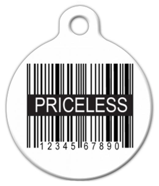 Dog Tag Art Priceless UPC Pet ID Dog Tag