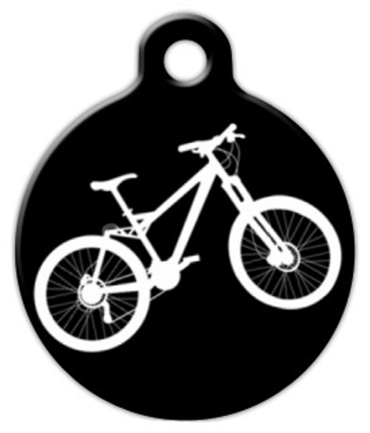 Dog Tag Art Mountain Bike Pet ID Dog Tag
