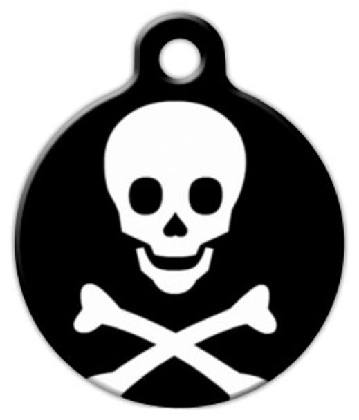 Dog Tag Art Skull and Bones Pet ID Dog Tag