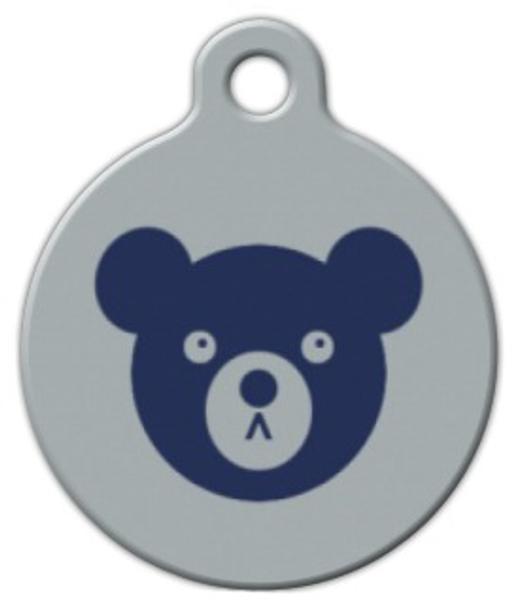 Dog Tag Art Blue Bear Pet ID Dog Tag