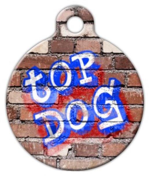 Dog Tag Art Top Dog Graffiti Pet ID Dog Tag