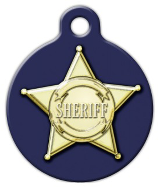 Dog Tag Art Sheriff Badge Pet ID Dog Tag