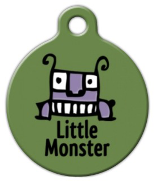 Dog Tag Art Little Monster Pet ID Dog Tag
