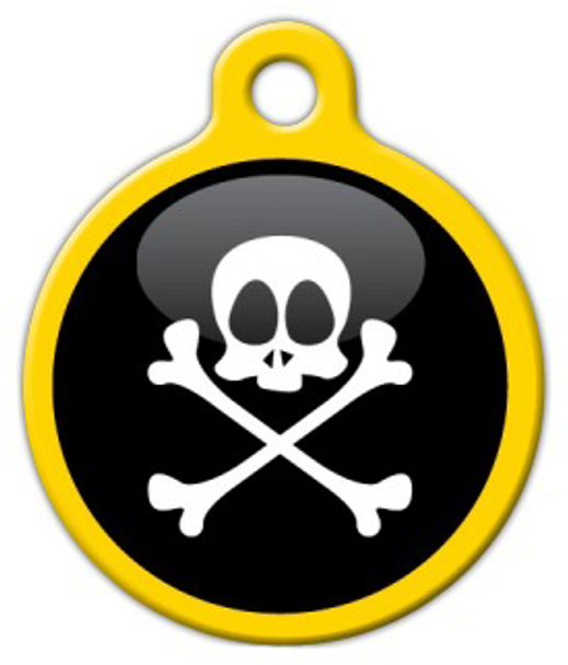 Dog Tag Art Pirate Pet ID Dog Tag