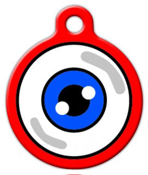 Dog Tag Art Eyeball Pet ID Dog Tag