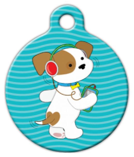 Dog Tag Art Groovy Pup Pet ID Dog Tag