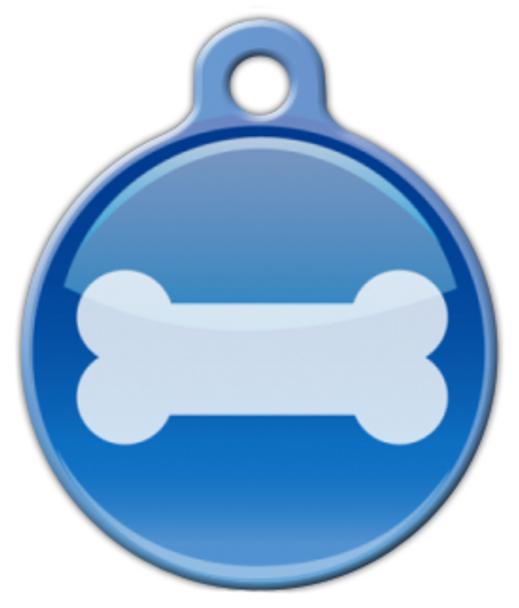 Dog Tag Art Bone Button Pet ID Dog Tag