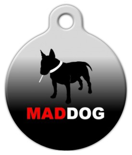 Dog Tag Art Mad Dog Pet ID Dog Tag