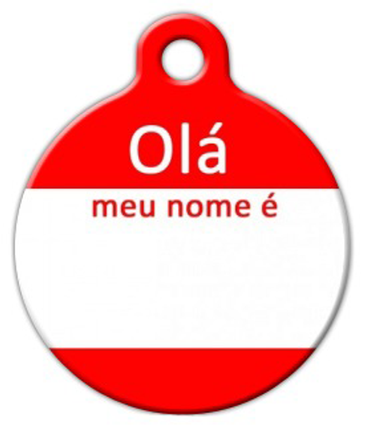 Dog Tag Art Hello My Name Is PORTUGUESE Pet ID Dog Tag