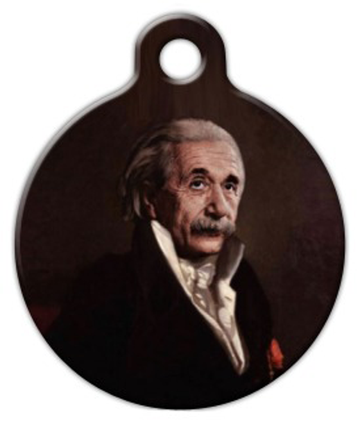 Dog Tag Art Einstein Pet ID Dog Tag