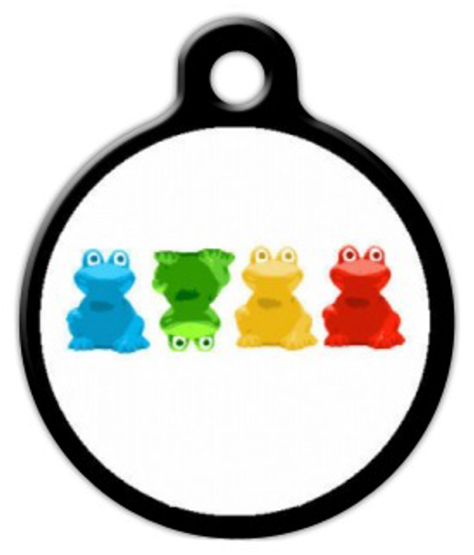 Dog Tag Art Crazy Frogs Pet ID Dog Tag