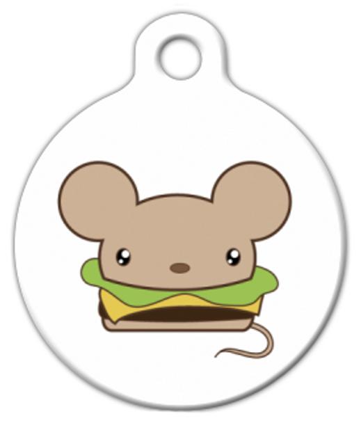 Dog Tag Art Kawaii Cheeseburger Mouse Pet ID Dog Tag