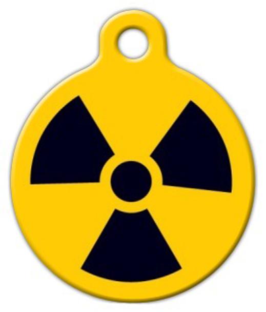 Dog Tag Art Radiation Pet ID Dog Tag
