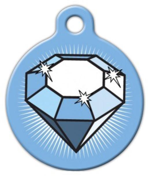 Dog Tag Art Big Diamond Pet ID Dog Tag