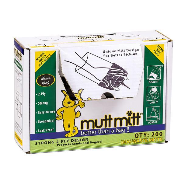 Mutt Mitt Pick Up Bags - 200 Count Box (F2710) Front Open