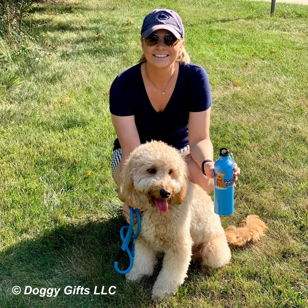 Cooper and mom love a day at the park with the Coastal Pet rope leash
