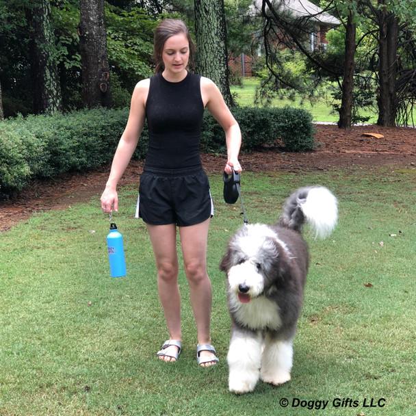 Henrythesheepadoodle and Mom Walking With Coastal Pet Power Walker Retractable Dog Leash.