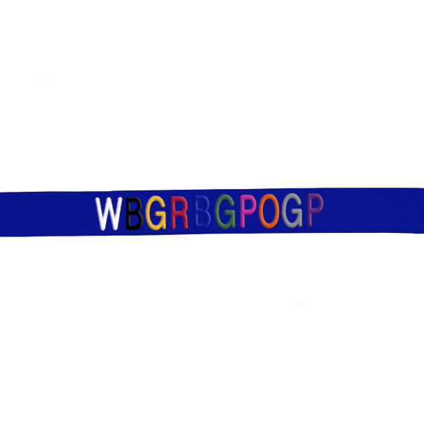 Coastal Pet Comfort Soft Wrap Adjustable Dog Harness Personalized Thread Embroidery Sample On Blue