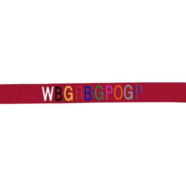 Coastal Pet Comfort Soft Wrap Sport Adjustable Dog Harness Personalized Embroidery Thread Samples On Red Nylon