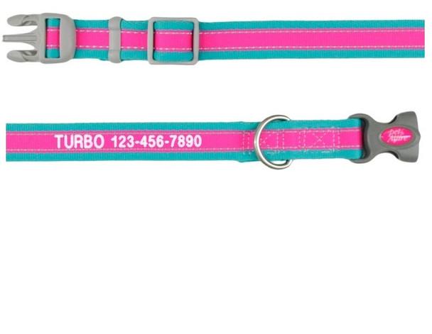 Coastal Pet Pro Reflective Adjustable Dog Collar Personalized (12621E)
