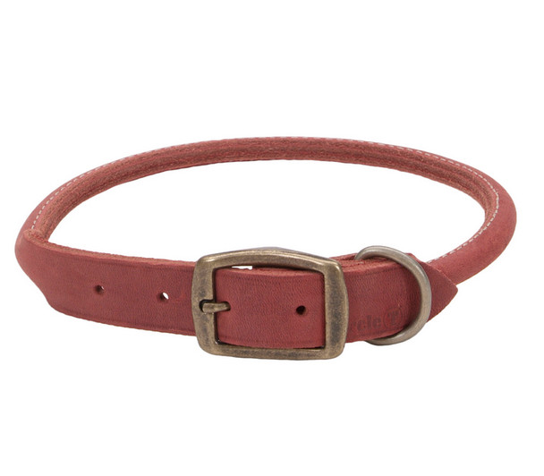 Circle T Leather Rustic Round Dog Collar (3213)