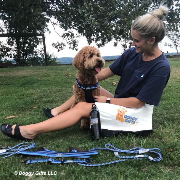 Sammy enjoying a fun park day with Mom wearing his K9 explorer series