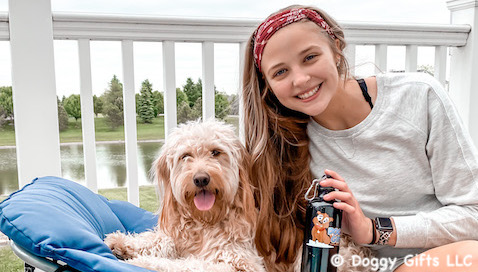 Have A Fun Filled Day From Doggy Gifts LLC  - featured friends Mylo and Cailin