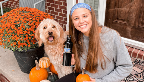 Fall Fun With Doggy Gifts LLC  - featured friends Mylo and Caitlin