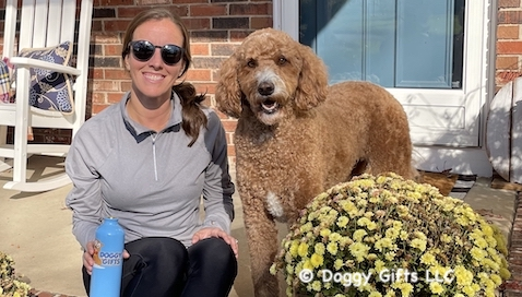 Fall Day Fun With Doggy Gifts LLC  - featured friends Meghan and Charley Girl