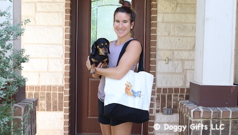 Playing In The Park With Doggy Gifts LLC  - featured friends Sadie and Lindsey
