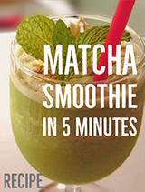 How To Make Matcha Green Tea Smoothie in 5 Minutes