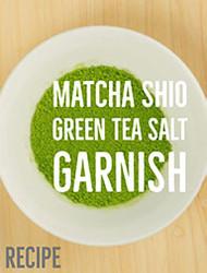 Matcha Salt Garnish Recipe (Matcha Shio)