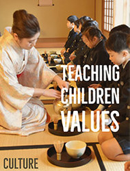 Making Tea with Children Helps Teach Values