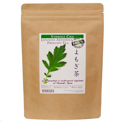 Yomogi-cha Artemisia princeps herbal tea 50g pack.