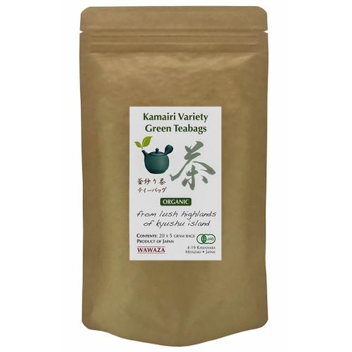 Kamairicha Large Size Green Teabags 40 cups