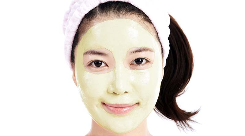Japanese woman with facial mask