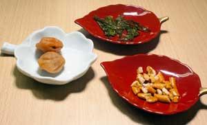 Arare, umeboshi and katsuo-bushi
