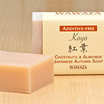 All natural, hanmade soap, formulated with tannin-rich extract of chestnut's inner skin (shibu-kawa)